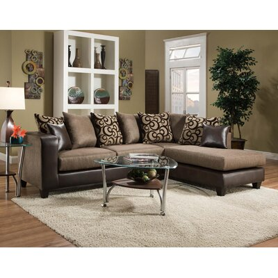 Altha Sectional Upholstery: Espresso