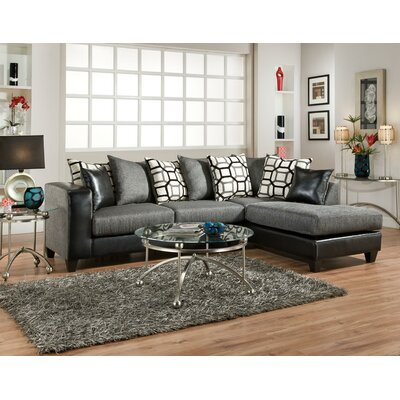 Oliver Sectional Upholstery: Charcoal
