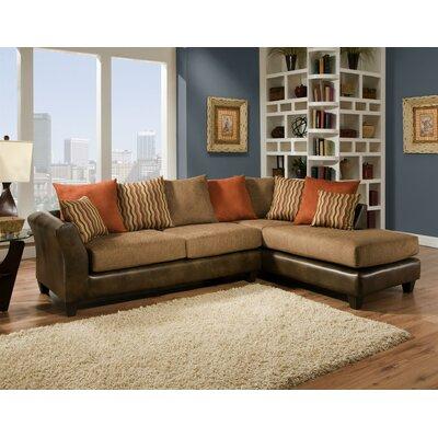 Alongi Sectional Upholstery: Mocha