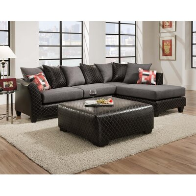 Alongi Modular Sectional Upholstery: Charcoal