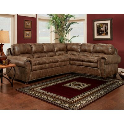 Burwan Sectional Upholstery: Espresso