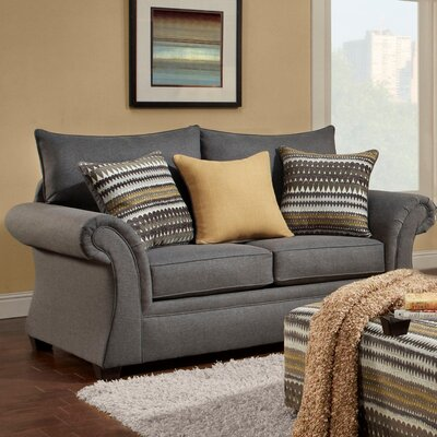 Milner Loveseat Finish: Gray