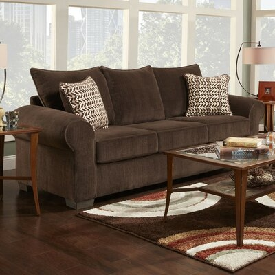 Carrie Sofa Finish: Mink Brown