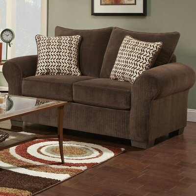 Carrie Loveseat Finish: Brown