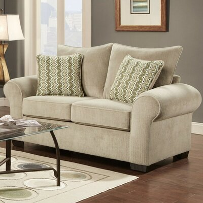 Carrie Loveseat Finish: Taupe