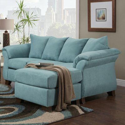 Brayton Sectional with Ottoman Upholstery: Turquoise