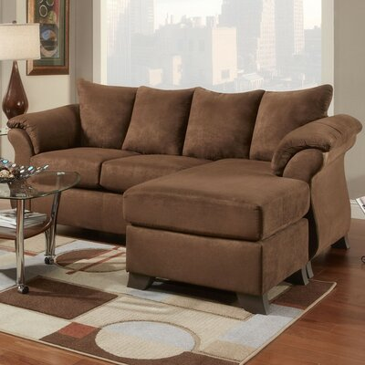 Cailyn Reversible Chaise Sectional Upholstery: Chocolate