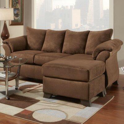 Brayton Sectional with Ottoman Upholstery: Chocolate