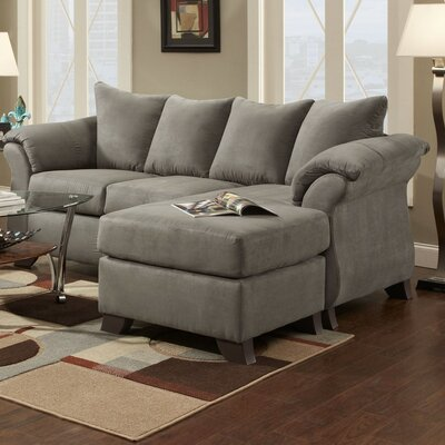 Brayton Reversible Sectional Upholstery: Gray