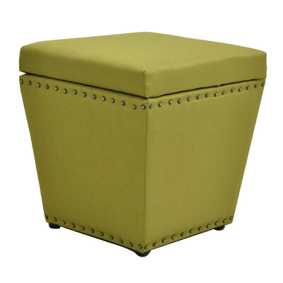 Cleo Storage Ottoman Finish: Green