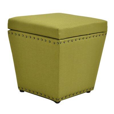 Cleo Storage Ottoman Finish: Green