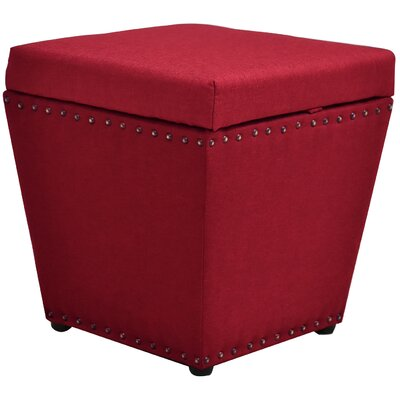 Cleo Storage Ottoman Finish: Red