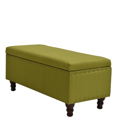 Cleo Storage Bench Ottoman Upholstery: Green
