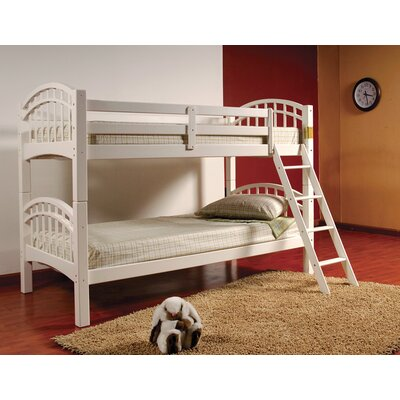 Flynn Twin Bunk Bed Color: White