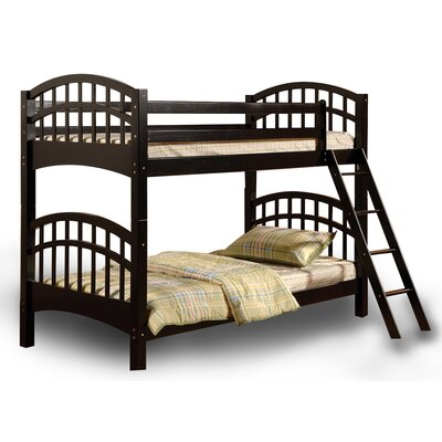 Flynn over Twin Bunk Bed Color: Black
