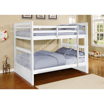 Otis Full over Full Bunk Bed Finish: White