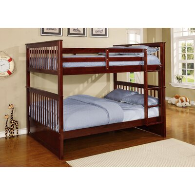 Otis Full over Full Bunk Bed Color: Espresso