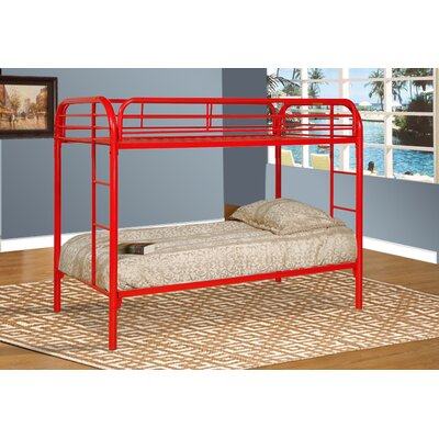 Twin Bunk Bed Color: Red