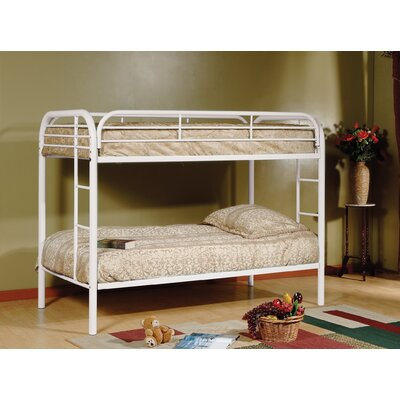Twin Bunk Bed Color: White