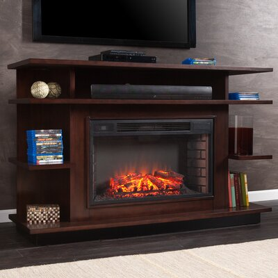 Baker Media 63 TV Stand with Fireplace