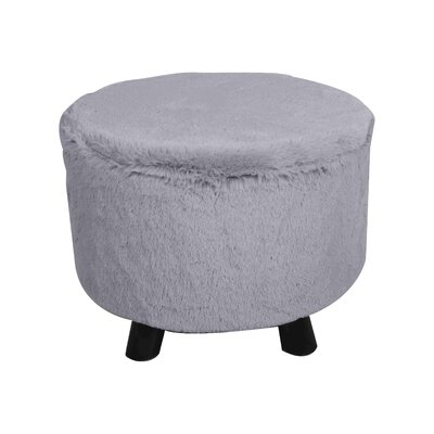 Ergo Fur Ottoman Finish: Gray