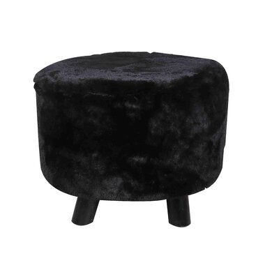 Ergo Fur Ottoman Finish: Black