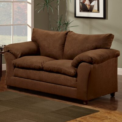 Candlewood Loveseat Upholstery: Chocolate