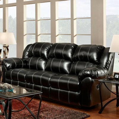 Nash Reclining Sofa Upholstery: Black