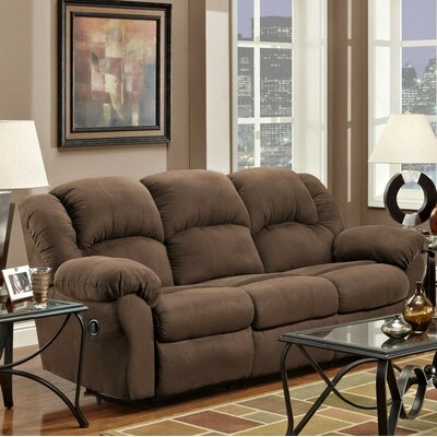 Nash Reclining Sofa Upholstery: Chocolate