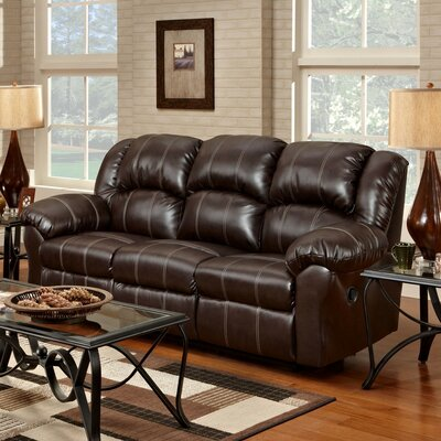 Nash Reclining Sofa Upholstery: Brown