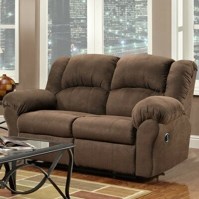 Nash Reclining Loveseat Upholstery: Chocolate