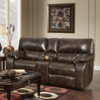 Caroline Reclining Sofa Upholstery: Chocolate
