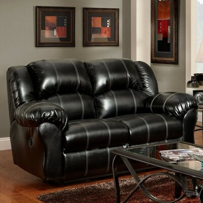 Nash Reclining Loveseat Upholstery: Black