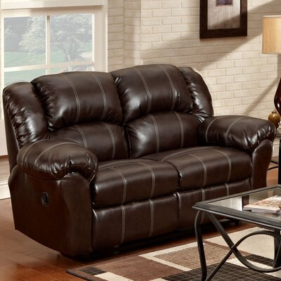 Nash Reclining Loveseat Upholstery: Brown