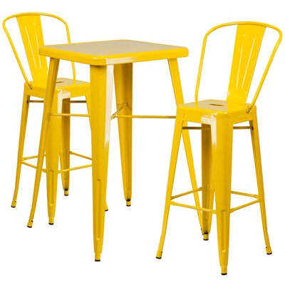 Fullmer 3 Piece Pub Table Set Finish: Yellow