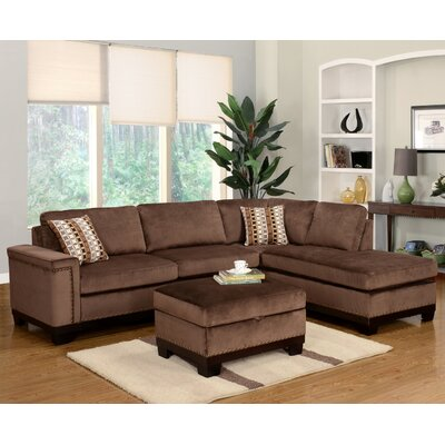 Wildon Home CST39195 28021601 Opulence Reversible Chaise Sectional Upholstery