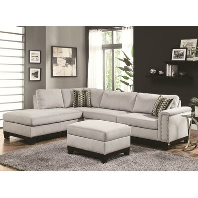 Wildon Home CST39754 28185300 Mason Reversible Chaise Sectional