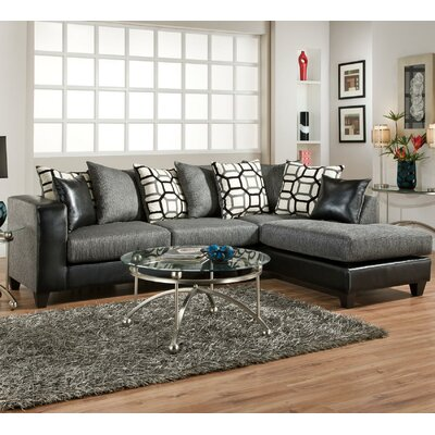 CST46385 31797096 Wildon Home Charcoal Sectionals