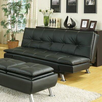 Furniture-Sleeper Sofa Upholstery Black
