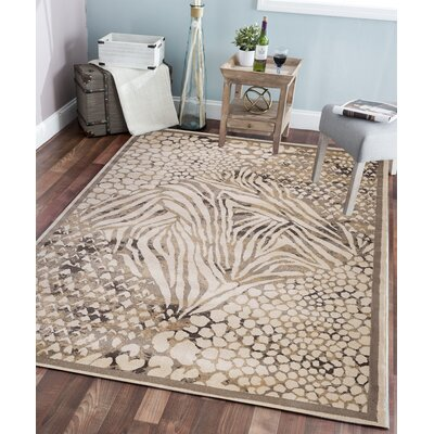 Garda Brown Area Rug Rug Size: Rectangle 53 x 73