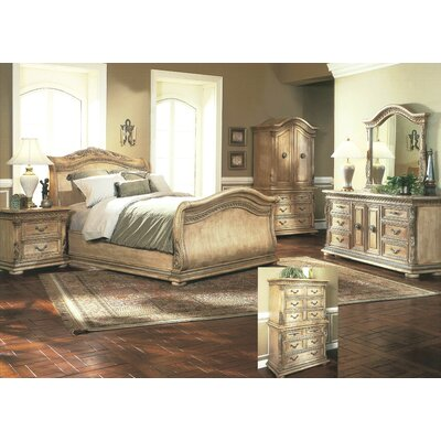 Whitewash Bedroom Furniture on Wildon Home Florence Sleigh Bedroom Set In Whitewash   Wayfair