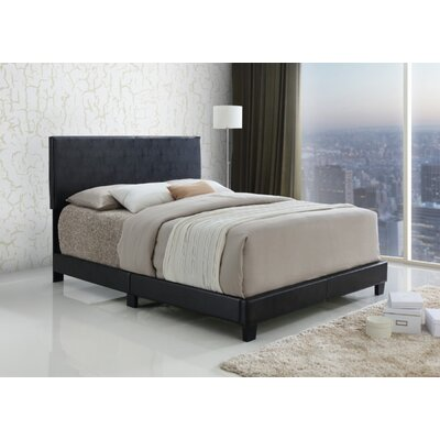 Brazos Upholstered Panel Bed Size Queen Finish Black