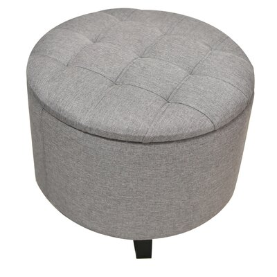 Sherman Storage Ottoman Fabric: Gray