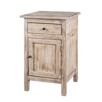 1 Drawer Nightstand Color: Flicked Dusk