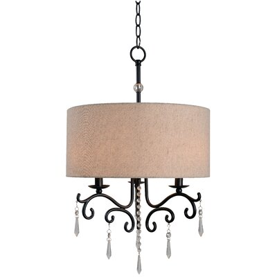 Esley 3-Light Drum Chandelier