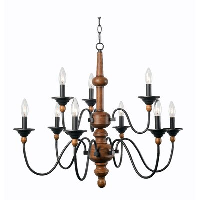 Athis Spencer Candle-Style Chandelier Size: 9 Light