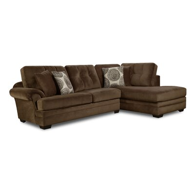 Landon Sectional Upholstery: Brown