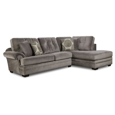 Landon Sectional Upholstery: Gray