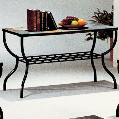 Cheap Wildon Home Sashay Sofa Table in Black Iron and Slate (CST6660)