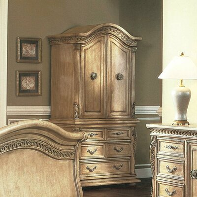Alzado Armoire Finish: Distressed Whitewash